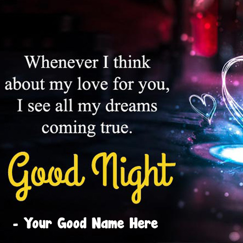 Name Editor Good Night Wishes Greeting Card Images Download