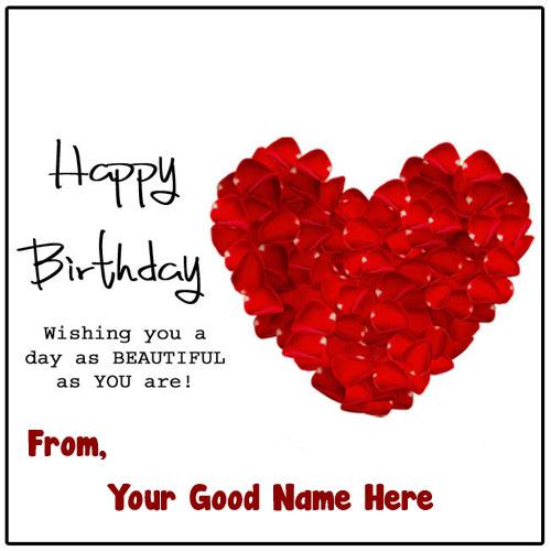 Love Birthday Greeting Card Name Wishes Send Photo