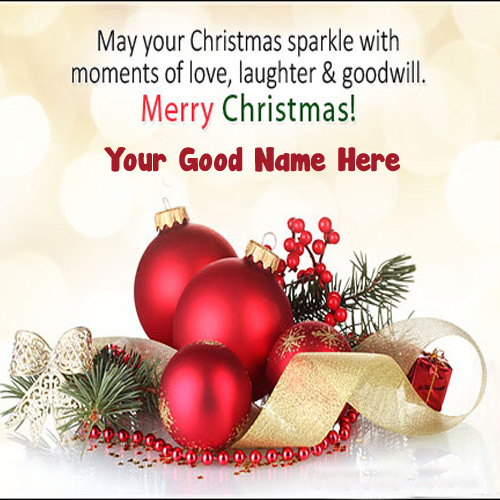 Name Write Christmas Greeting Card Whatsapp Status Download