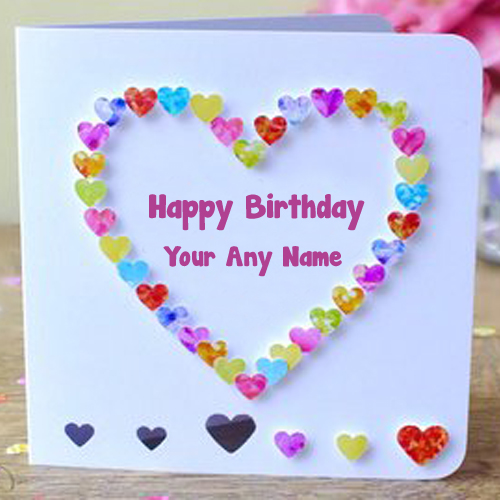 Best Happy Birthday Card Name Wishes Photo Edit Send My Name Pix Cards