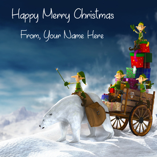 Create Merry Christmas Wishes Name HD Pictures Online