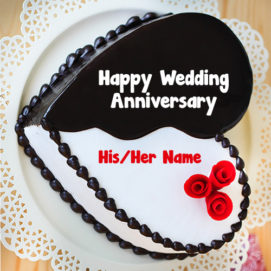 Happy Wedding Anniversary Cake Name Write Online