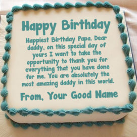 Happy Birthday Dad Wishes Name Cake Image Editor