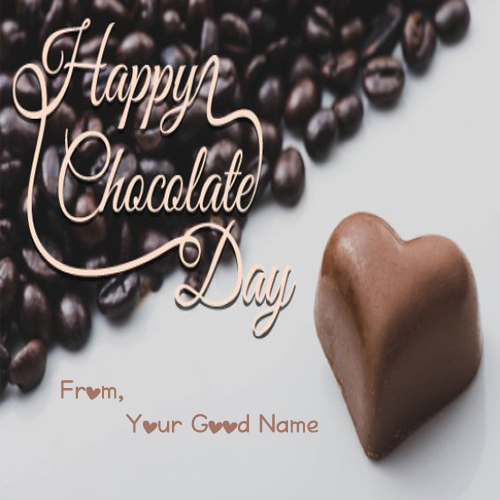 Happy Chocolate Day Wishes Name Print Photo 2019