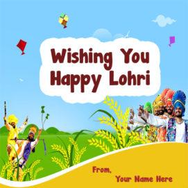 Happy Lohri Wishes Name Status Photo Send Editor