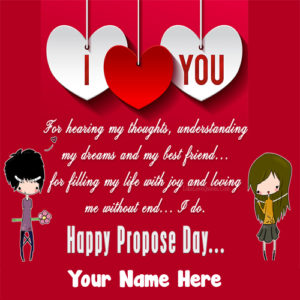 Happy Propose Day Lover Name Quotes Cute Image