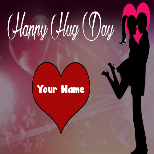 Romantic Happy Hug Day Lover Name Write Picture Send