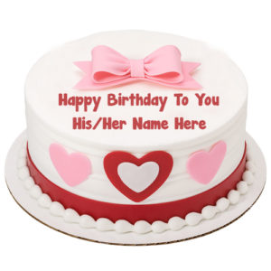 Happy Birthday Cake Girlfriend Name Wishes Image