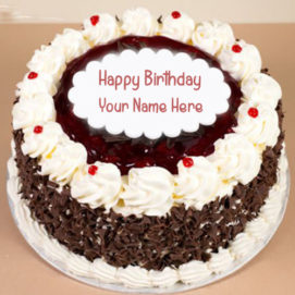 Chocolate Sweet Birthday Cake Send Name Wishes Images