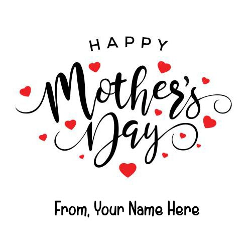 Name Write Happy Mothers Day Wishes Greeting Card 2019
