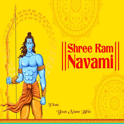 Name Write Rama Navami 2019 Beautiful Greeting Card Send