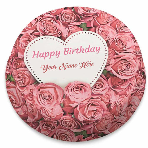 Romantic Love Birthday Cake Name Create Images Sending