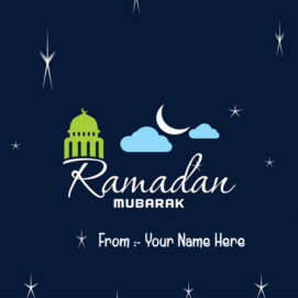 Happy Ramadan Eid Beautiful Pictures Name Wishes Cards