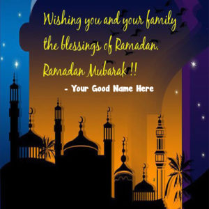 Ramadan Kareem Greeting Card With Name Images Editor Free