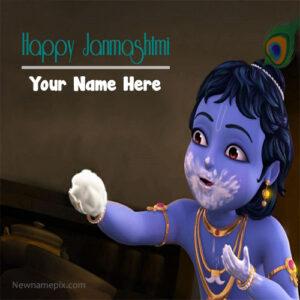 Cute Bal Krishna Janmashtami Wishes Pics