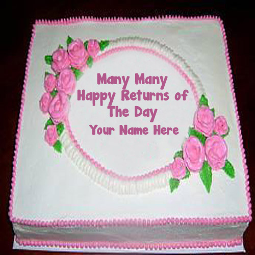 Flowers Happy Birthday Name Wishes Cakes
