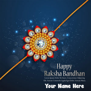 Write Name On Pictures Raksha Bandhan DP