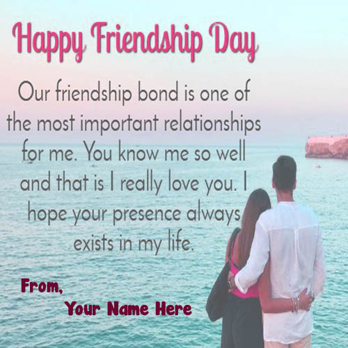 Happy Friendship Day Image With Name Pic