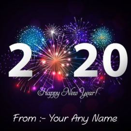 Write Name On Happy New Year 2020 Image Free Download