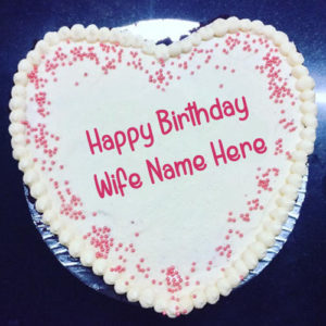 HBD Cake With Wife Name Print Best Profile Pictures
