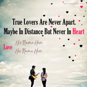 His And Her Name On True Lover Picture