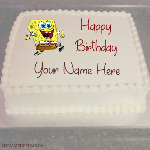 Kids Happy Birthday Wishes Funny Cartoon Cake With Name Pictures My Name Pix Cards