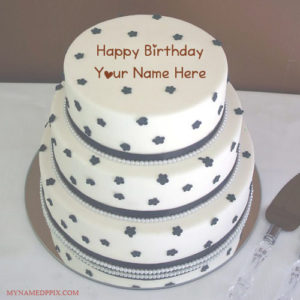 Print My Husband Name Birthday Wishes Layer Cake