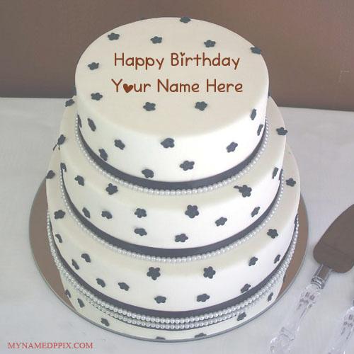 Print My Husband Name Birthday Wishes Layer Cake
