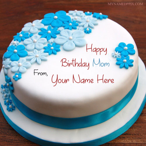Specially Name Birthday Cake For Mom Wishes DP Pictures