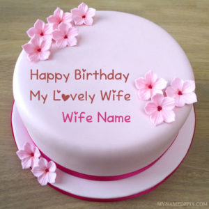 Specially Wife Name Wishes Birthday Cake Pictures