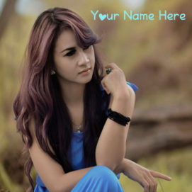 Write Name On Awesome Beauty Girl In Dress Pictures