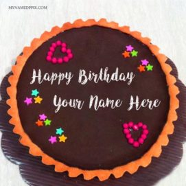 Write Name On Birthday Chocolate Cake Wishes Pics
