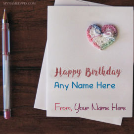 Write Name On Birthday Wish Card Pictures
