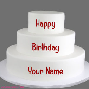 Happy Birthday Layer Cake With Name Profile