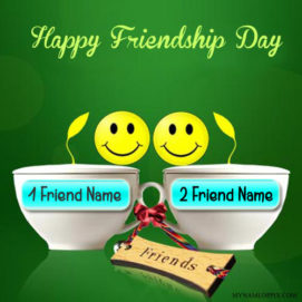 Happy Friendship Day Wishes Unique Name Image