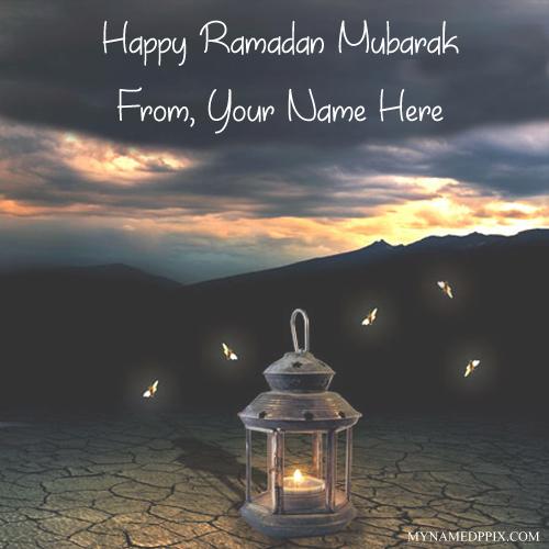 Happy Ramzan Mubarak Name Wishes Image