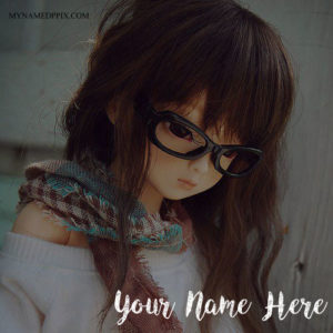 Print Name On Awesome Cute Doll Image
