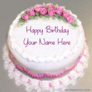 Specially Name Writing Birthday Cake Image