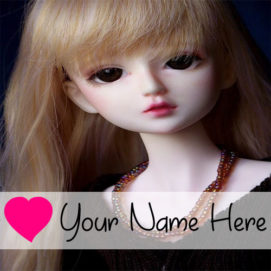 Write BF or GF Name Love Doll Profile Image