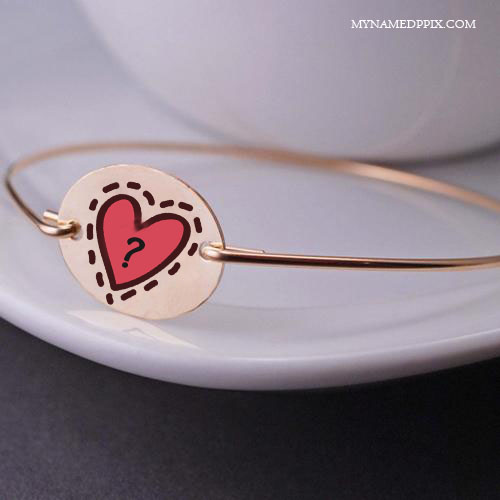 Write Name Letter On Love Ring Image