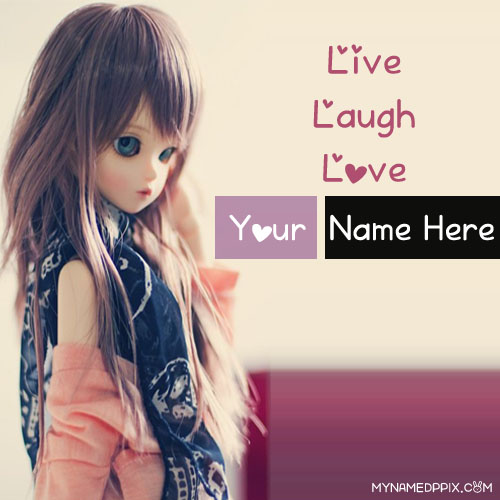 Write Name On Charming Doll Profile Image