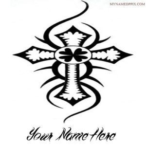 Write Name On Cross Tattoo Set Profile