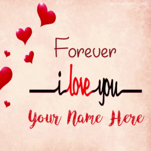 Write Name On Forever Love U Profile Photo