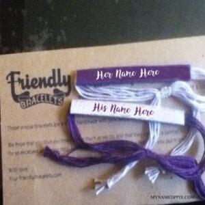 Write Name On Friends Bracelets Image