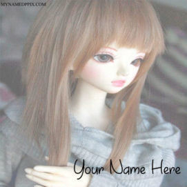 Write Name On Gorgeous Hair Look Doll Image