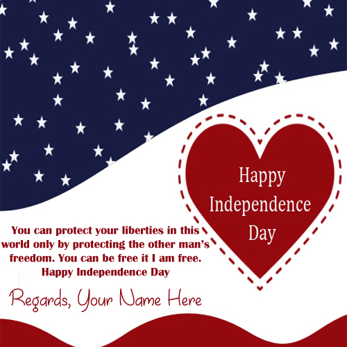 4th July USA Independence Day Quotes Name Pics