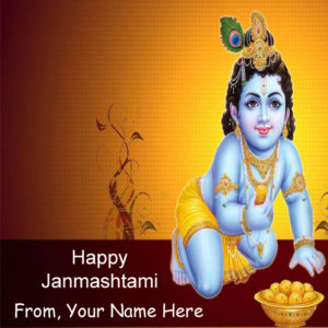Best Name Wishes Happy Janmashtami Wish Card Image Edit Online