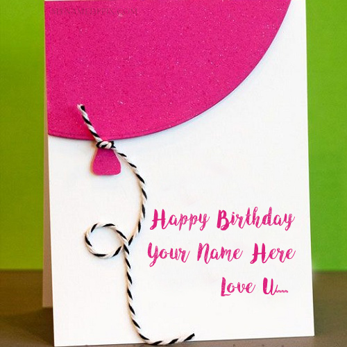 Birthday Greeting Card Lover Name I Love U Pictures Edit My Name Pix Cards