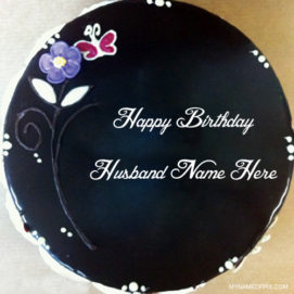 Black Forest Birthday Cake For Husband Name Wishes Pics