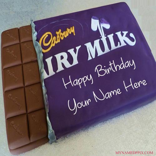 Dairy Milk Chocolate Birthday Cake Friend Name Wishes Pics